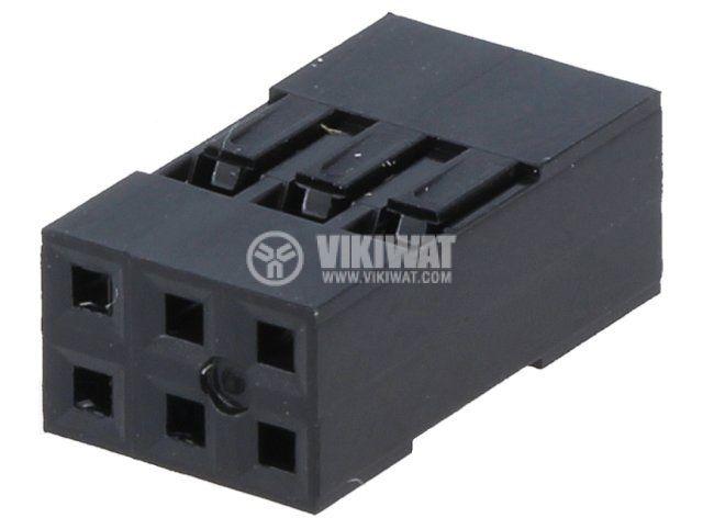 Съединител щифтов 6 контакта щепсел на проводник растер 2.54 - 1