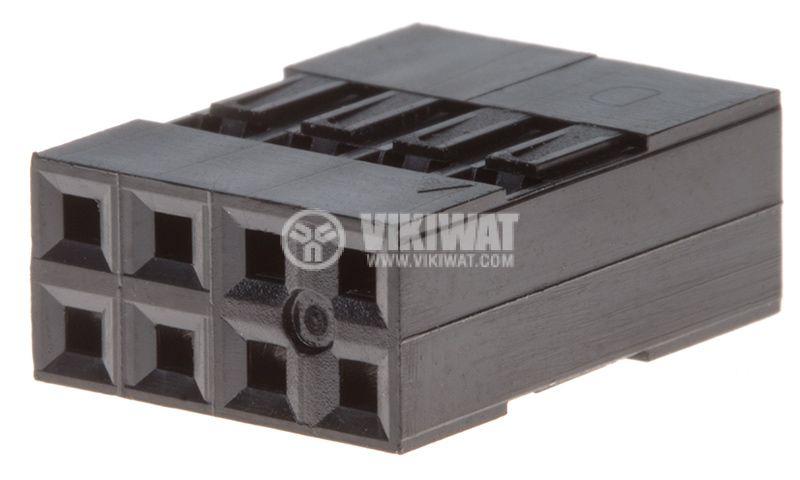 Съединител щифтов 8 контакта щепсел на проводник растер 2.54 - 1