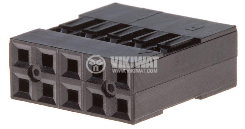 Съединител щифтов 10 контакта щепсел на проводник растер 2.54 - 1