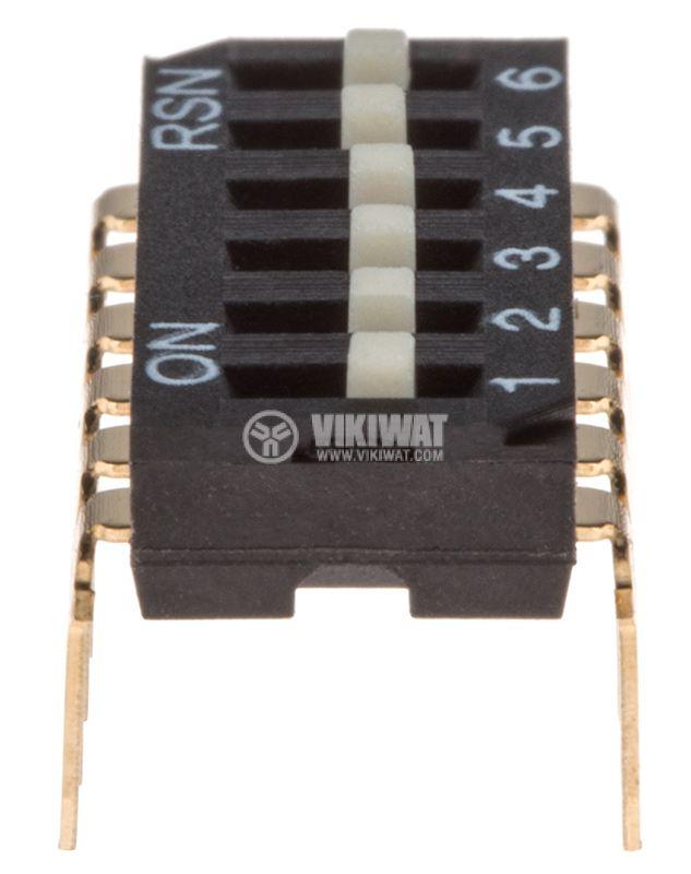 Микропревключвател DIP плъзгач 0.05A/12V ON-OFF THT - 1