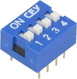 Microswitch DIP slider 0.05A/12VDC ON-OFF THT