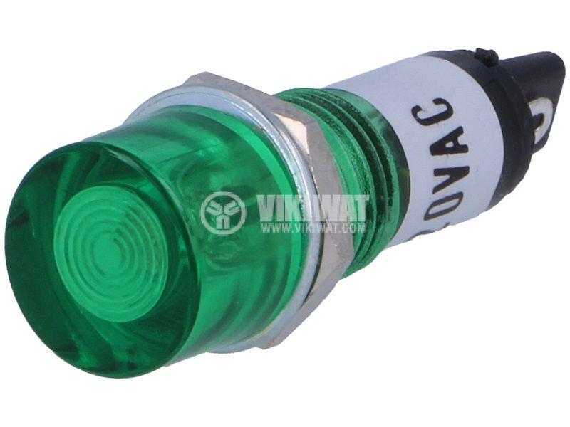 Лампа индикаторна неонова NI-1GN 230V зелена