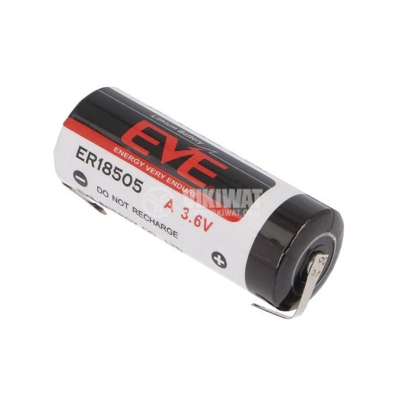 Батерия, литиева, EVE-ER18505/CNR, ф18.7x50.5mm, 3.6VDC, 4000mAh