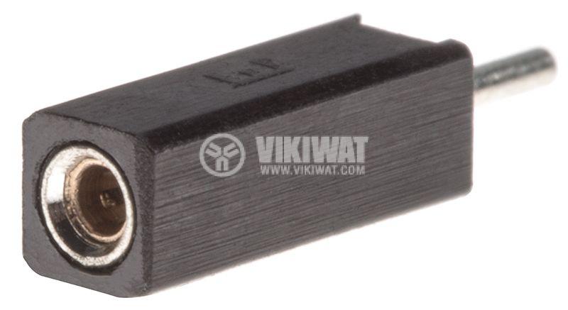 Съединител щифтов, 1 контакт, гнездо, THT на платка, растер 2.54mm - 1