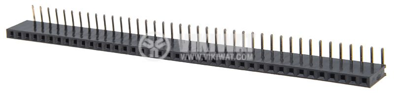 Connector pin header type, 40 contacts, THT on PCB, raster 2.54mm - 1