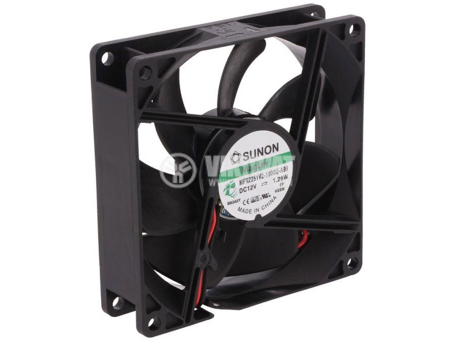 Fan 12V 92x92x25 Vapo bearing 76.05m³/h MF92251V2-1000U-A99 brushless