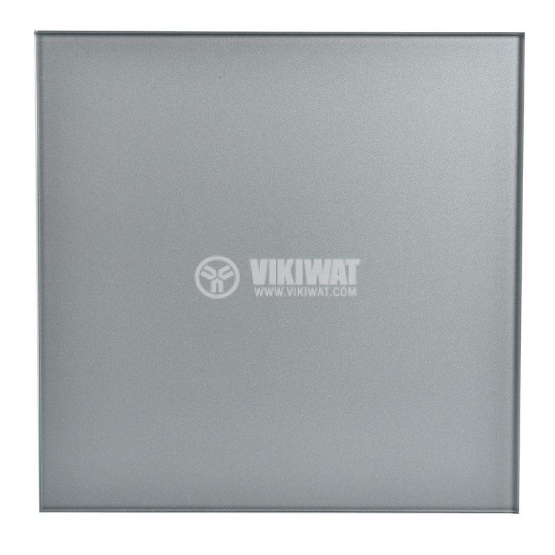 Квадратен вентилатор за баня цвят инокс MMP 06 - 2