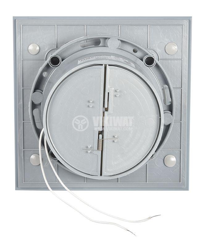 Мощен вентилатор за баня с клапа стъкло инокс MM-9/06 - 3