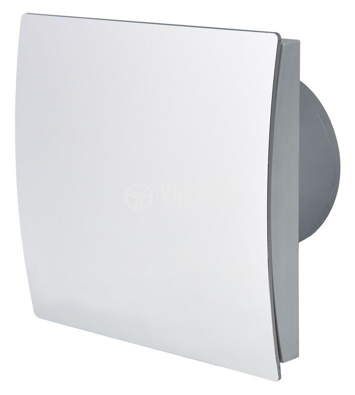 Вентилатор за баня MMP 01 Ф100mm с клапа 220V 13W 105m3/h квадратен 160x160 хром - 1