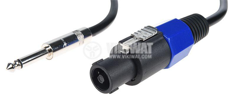 Кабел, SPEAKON/m- plug 6.3/m mono, 5m - 1