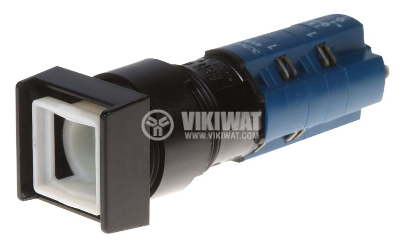 Бутонен превключвател, бутон, ON - ON, отвор ф16mm - 1