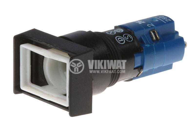 Бутонен превключвател, бутон, ON-(ON), ф16mm - 1