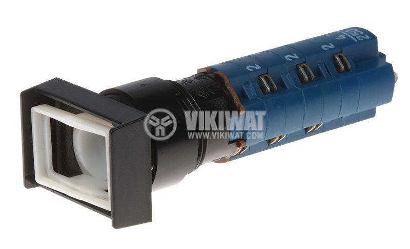 Бутонен превключвател бутон, ON-(ON), ф16mm - 1