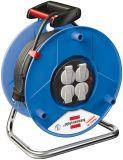 Макара удължител-разклонител 25m, 4-ка, 3x1.5mm2, със защита, синя, Brennenstuhl 1215056