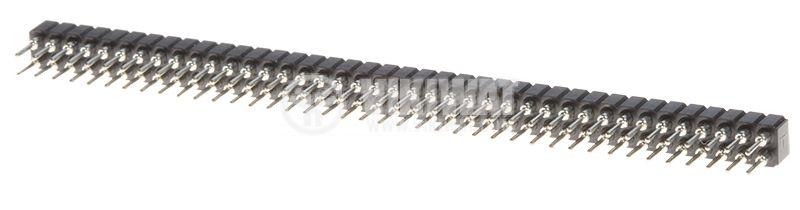 Съединител щифтов, 80 контакта, гнездо, THT 2mm - 2