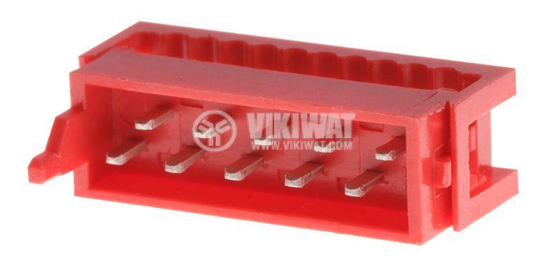 Конектор проводник-платка, 10 пина, мъжки, IDC, DS1015-01-10R6 - 1
