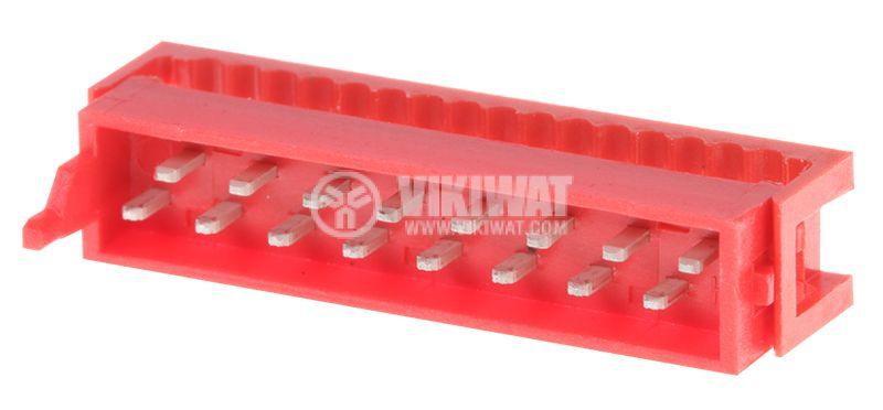 Конектор проводник-платка, 16 пина, мъжки, IDC, DS1015-01-16R6 - 1