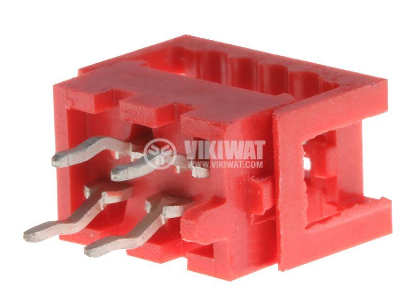Конектор проводник-платка, 4 пина, женски, THT, DS1015-02-04R6 - 1