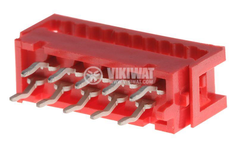 Конектор проводник-платка, 10 пина, преходник, IDC, THT, DS1015-02-10R6 - 1