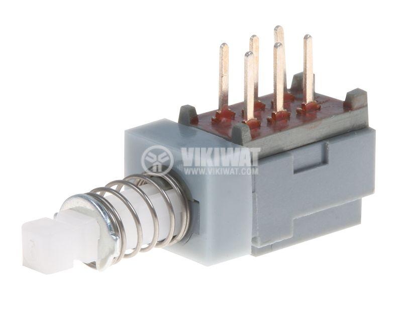 Бутонен превключвател бутон ON-ON 0.1A/30V THT - 1