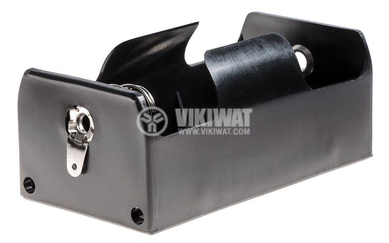 Държач за батерия D с метални пера за запояване - 1