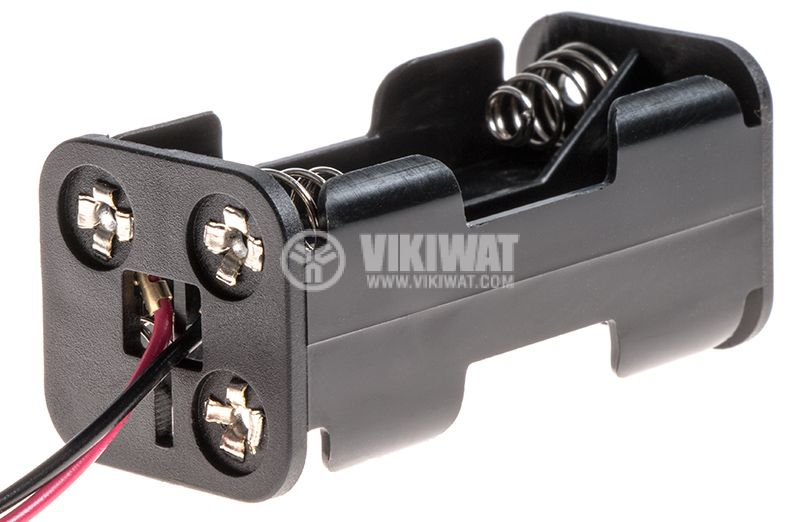 Battery holder 4xAAA with wires - 1