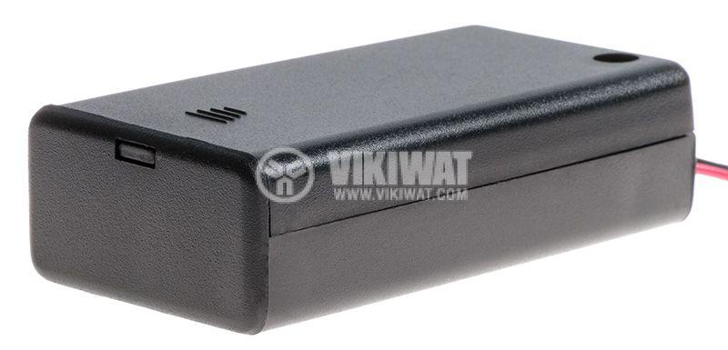 Кутия за батерии 2xAA с проводници - 2