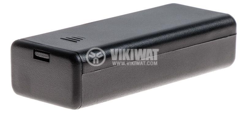 Държач за батерии 2xAAA с проводници и превключвател - 1