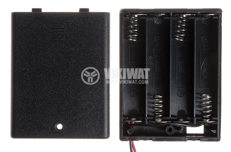 Battery holder with wires - 3