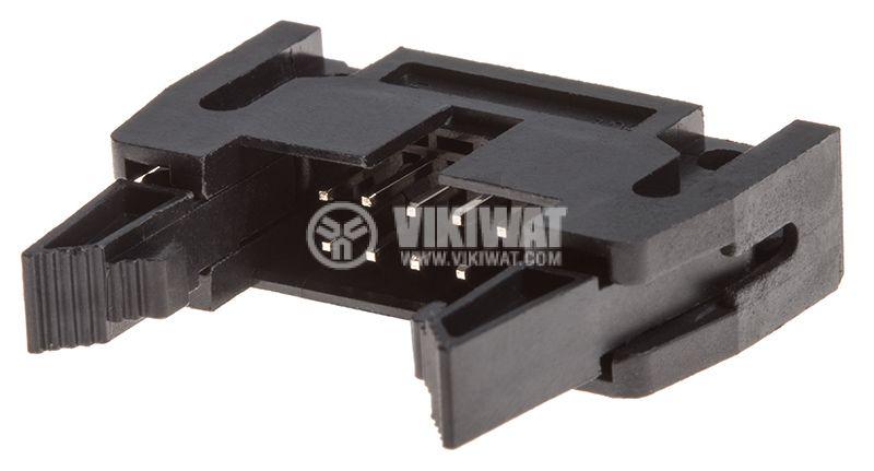 Съединител IDC мъжки 10 пина растер 2.54mm 2х7 90° - 1