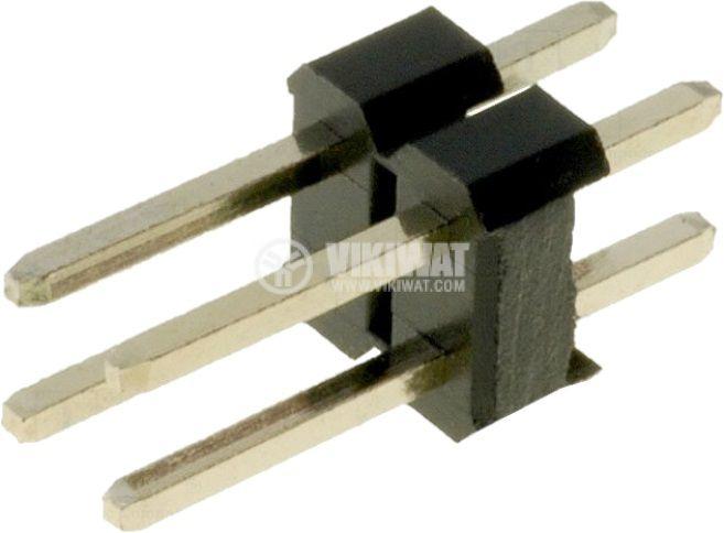 Съединителна рейка 4 пина растер 2.54 mm права