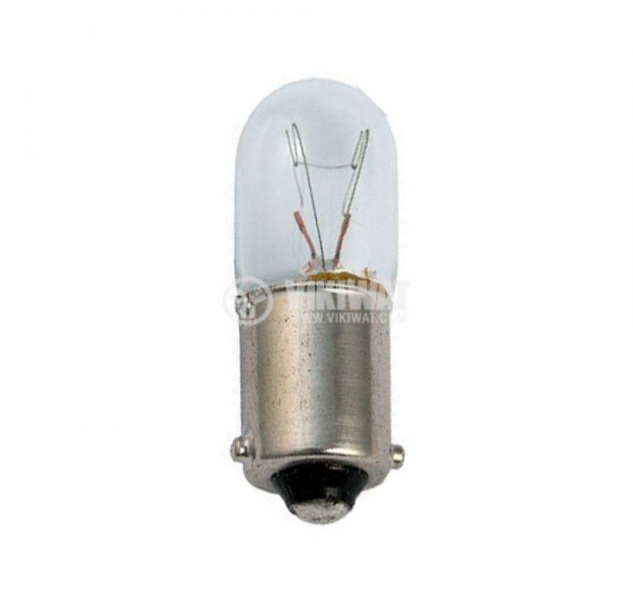 Байонетна лампа 12VDC 170mA BA9S T3 1/4