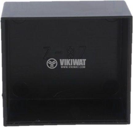 Кутия 52x46x26 ABS черна за заливане - 2