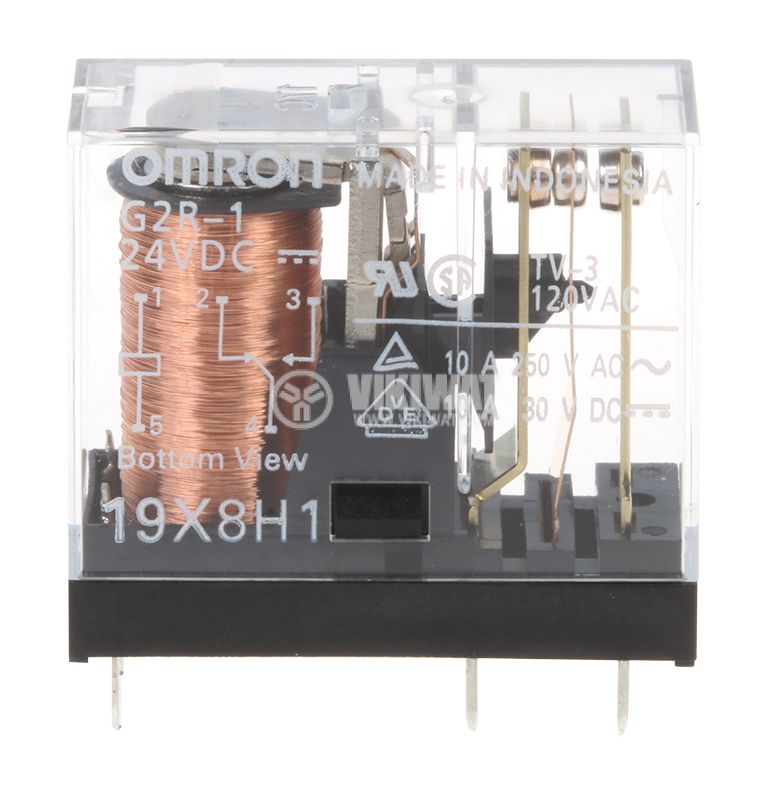 Реле електромагнитно G2R-1 бобина 24V 250VAC/10A SPDT - 1