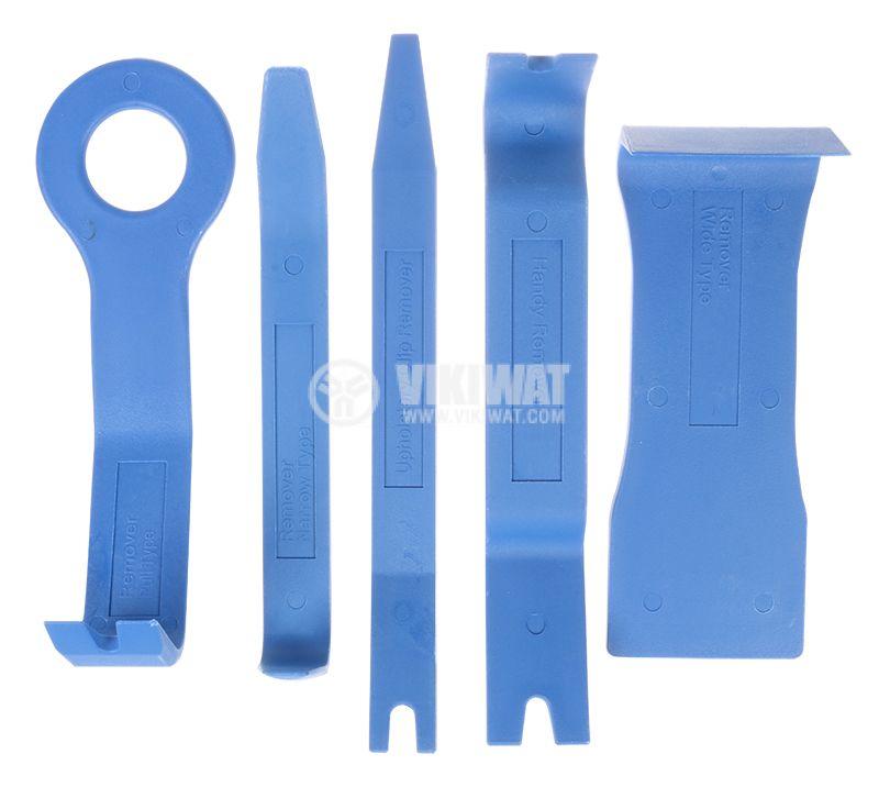 Комплект пластмасови инструменти за демонтаж на автомобилни части  - 1