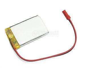 Акумулаторна батерия 3.7V, 2400mAh, Li-Po, с проводници и букса