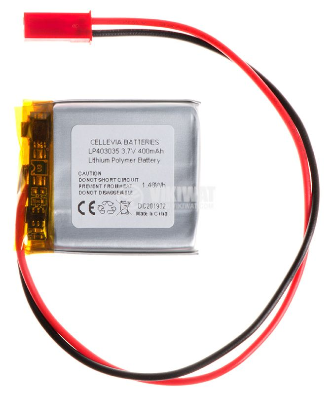 Акумулаторна батерия 3.7V, 400mAh, Li-Po - 1