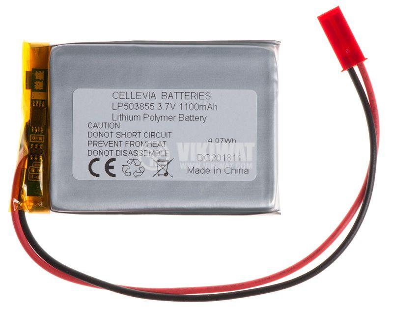 Акумулаторна батерия 3.7V, 1100mAh, Li-Po - 1