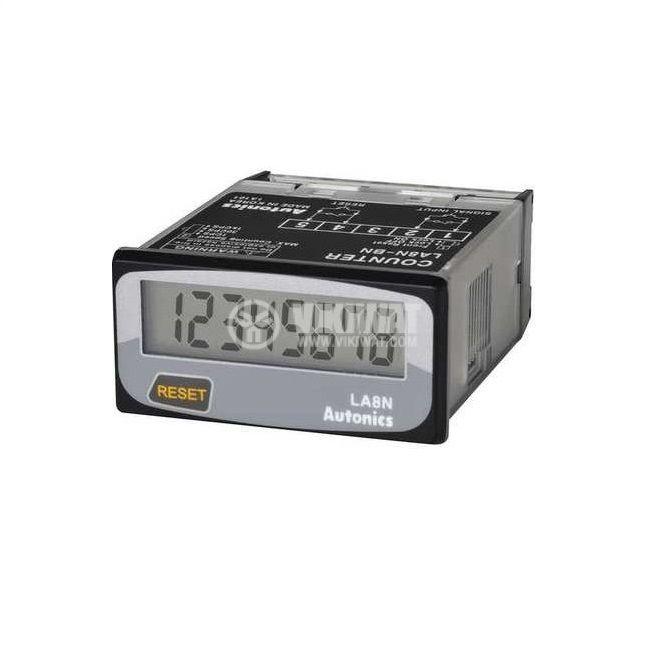 Брояч на часове, цифров, LE8N-BF, от 0 до 999999.9h, NPN датчик, механичен контакт