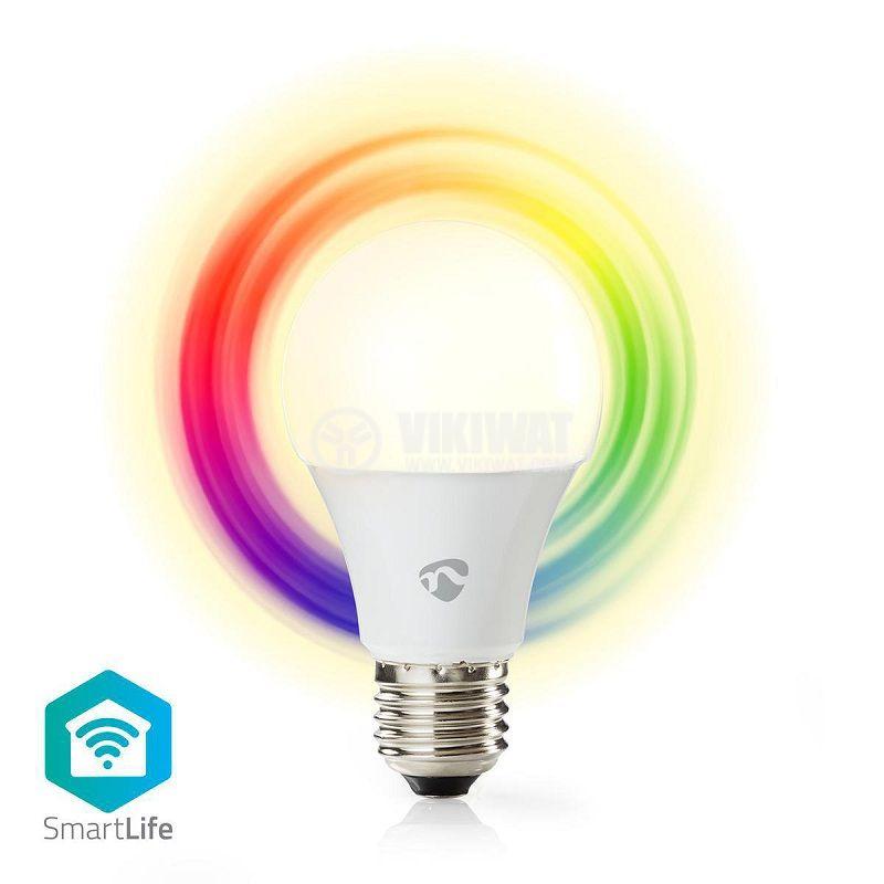 Умна LED SMART крушка wifi, E27, топлобяла, всички цветове, димируема, NEDIS - 1