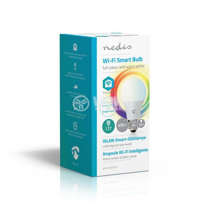 Димираща LED умна лампа, RGB, топла светлина, 3000K, NEDIS - 2