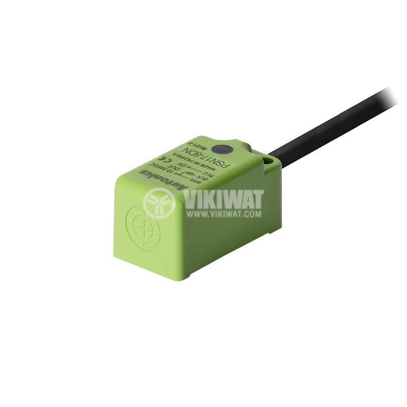 Индуктивен датчик PSN17-8DN, 10~30VDC, NPN, NO, 8mm, 18x18x35.6mm, екраниран