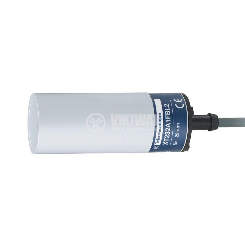 Капацитивен датчик XT232A1FAL2, ф32x80mm, 20~265VAC, NO, 20mm, екраниран - 1