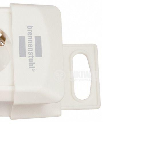 Разклонител 4-ка, шуко, кабел 1.8m, бял, Premium-Line, Brennenstuh - 2