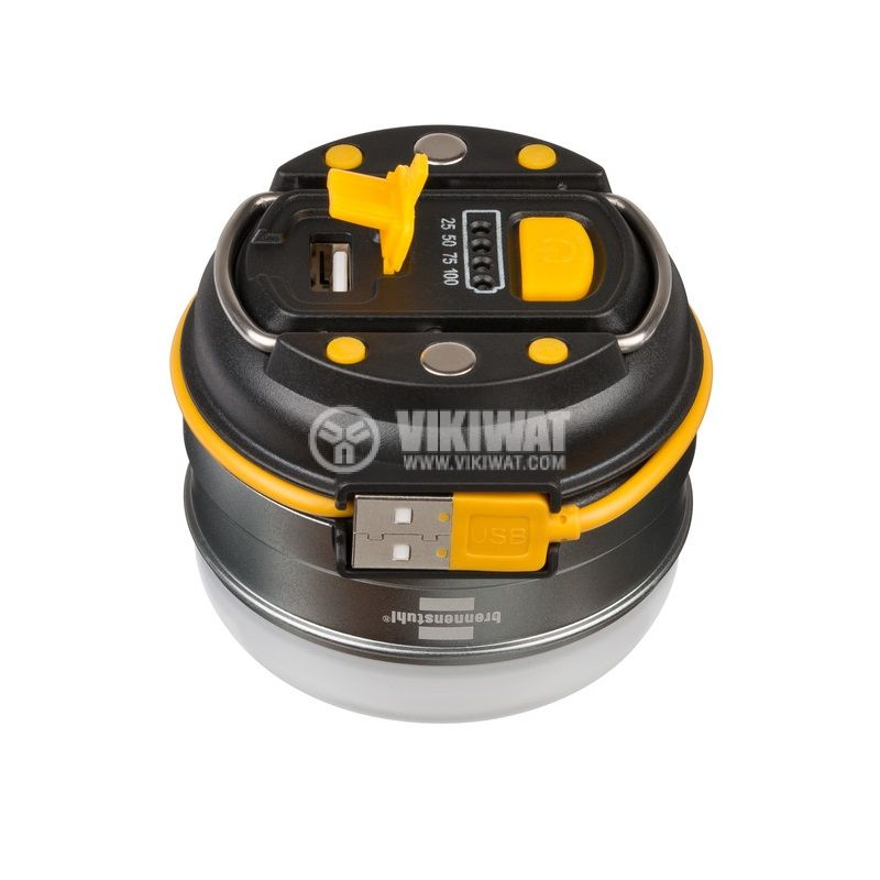Презареждаема къмпинг LED външна лампа, OLI 0300 A, Brennenstuh, 350lm, IP44, водозащитена, 1171540 - 3