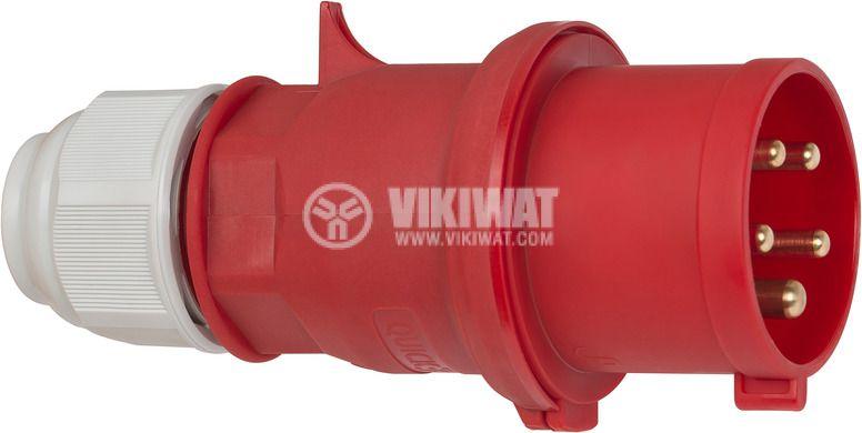 Индустриален съединител CEE 400V/32A, червен,  IP44, влагозащитен, Brennenstuhl, 1081050