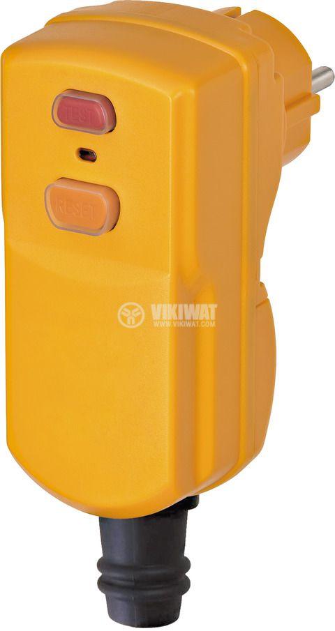 Circuit Breaker Plug, 250V, 16A,  IP55, waterproof, yellow, BDI-S 2 30, Brennenstuhl, 1090670