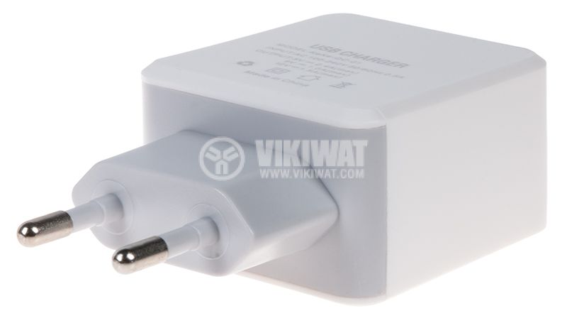 Charger for smartphone and tablet, 2.4A, 5VDC - 2