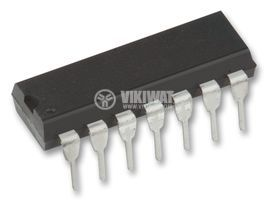 IC 74LS00, TTL / LS series, QUAD 2-INPUT NAND GATE, DIP14 - 1