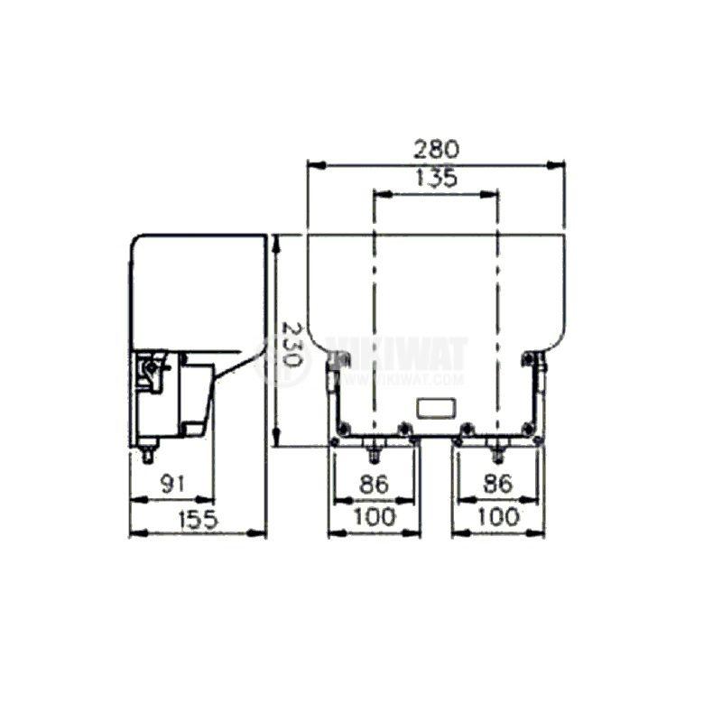 Двоен крачен превключвател TFS-602, SPDT+SPDT, 15A/250VAC - 2